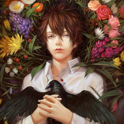 Пазл онлайн: Ворона