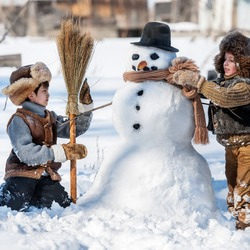 Пазл онлайн: Зимние игры