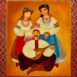 Пазл онлайн: Украинская семья