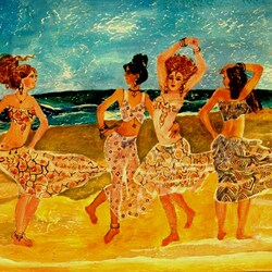 Пазл онлайн: Танцовщицы