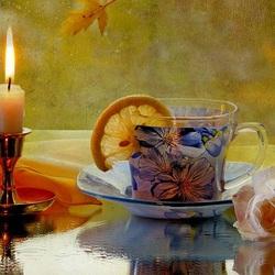Пазл онлайн: Чай при свече