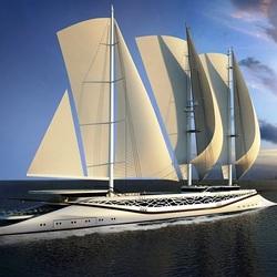 Пазл онлайн: Парусная яхта