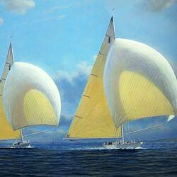 Пазл онлайн: Парусные яхты