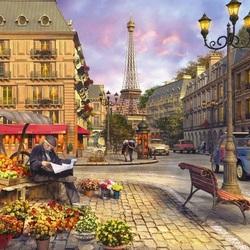 Пазл онлайн: На улице Парижа