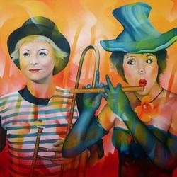 Пазл онлайн: Артистки цирка