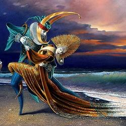 Пазл онлайн: Танго на закате II