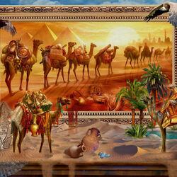 Пазл онлайн: Ожившая египетская пустыня