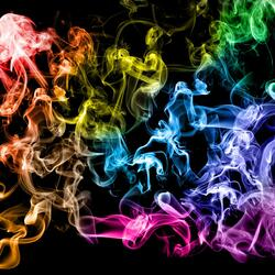 Пазл онлайн: Разноцветный дым