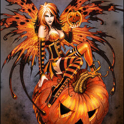 Пазл онлайн: Фея Хэллоуина
