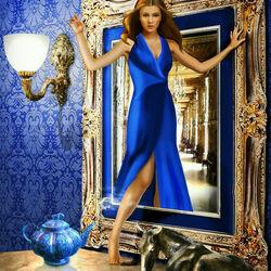 Пазл онлайн: Синий вечер