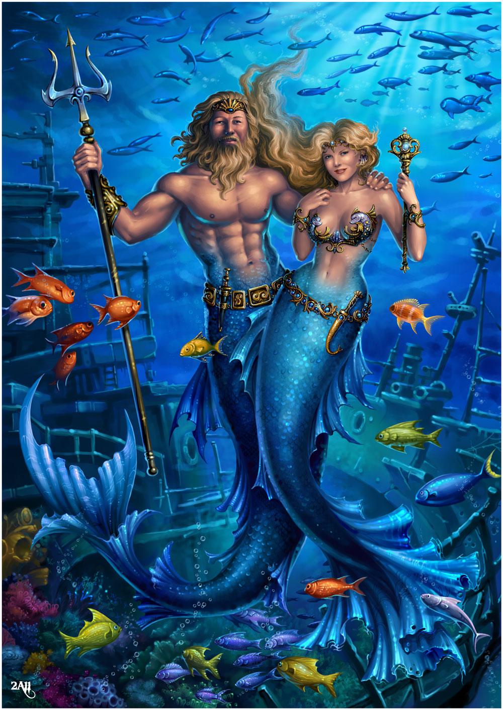 Костюмированное поздравление для юбиляра от Нептуна и Русалок / Веселое 87