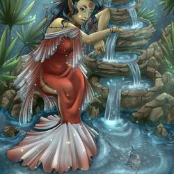 Пазл онлайн: Хозяйка рыбного ручья