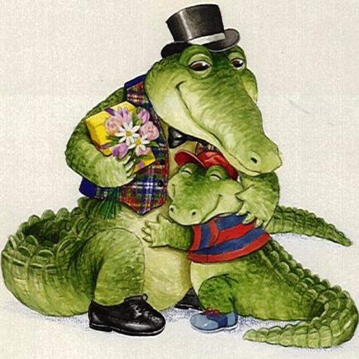 День, картинка прикольного крокодила