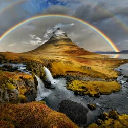 Пазл онлайн: Гора Киркьюфелл