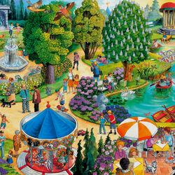 Пазл онлайн: В парке