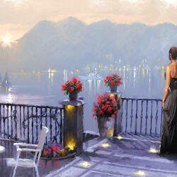 Пазл онлайн: Романтический вечер