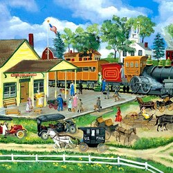Пазл онлайн: Железнодорожный вокзал