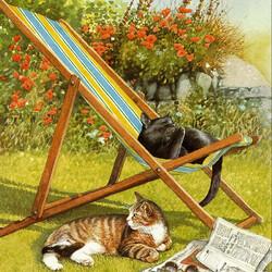 Пазл онлайн: Кошачий отдых