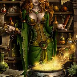Пазл онлайн: Владелица алхимической лавки