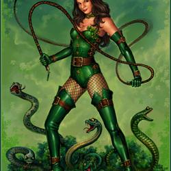 Пазл онлайн: Укротительница змей