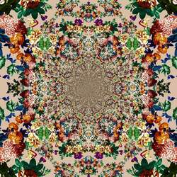 Пазл онлайн: Цветочный орнамент