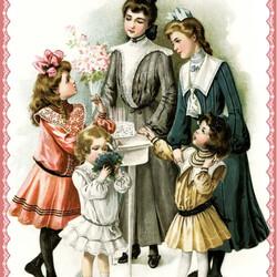 Пазл онлайн: Викторианская мода (дети)