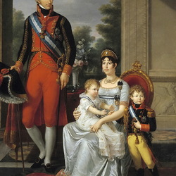 Пазл онлайн: Семья короля Этрурии