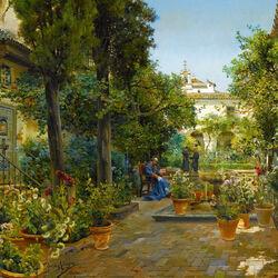 Пазл онлайн: Сады Севильи