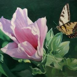 Пазл онлайн: Бабочка и цветок