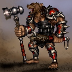 Пазл онлайн: Медведь-воин