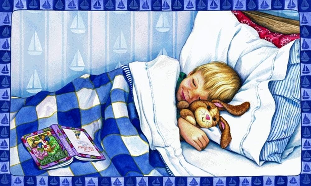 Картинки спящие дети нарисованные, открытка день