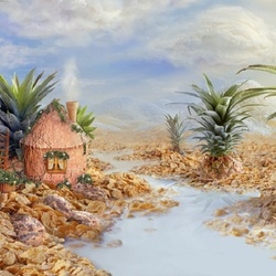Пазл онлайн: Деревня Мюсли