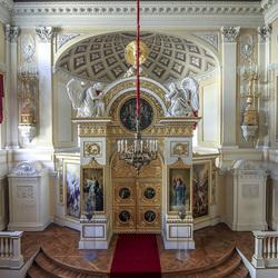 Пазл онлайн: Церковь Павловского дворца