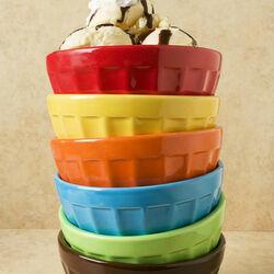 Пазл онлайн: Мороженое и разноцветные креманки