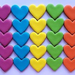Пазл онлайн: Печенье-сердечки