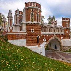 Пазл онлайн: Фигурный мост в Царицыно