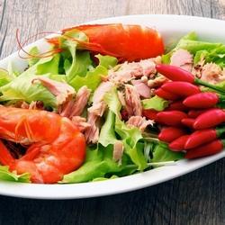 Пазл онлайн: Салат с морепродуктами