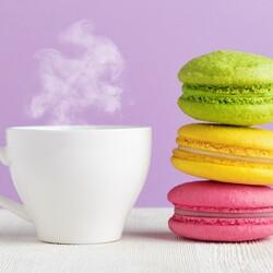 Пазл онлайн: Кофе и сладости