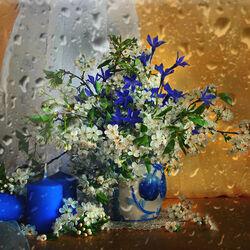 Пазл онлайн: Весенний дождь