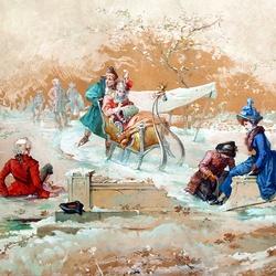 Пазл онлайн: У зимы забав немало