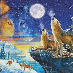 Пазл онлайн: Волчье время