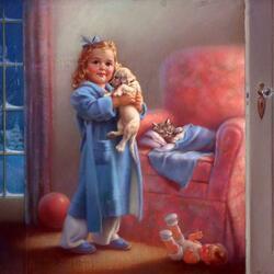 Пазл онлайн: Спокойной ночи, малыши