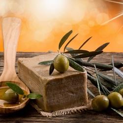 Пазл онлайн: Оливковое мыло