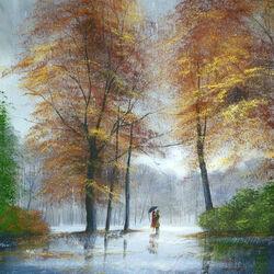 Пазл онлайн: Осенний романс