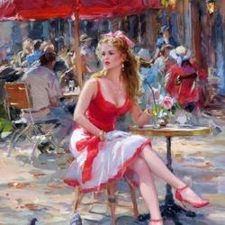 Пазл онлайн: В летнем кафе