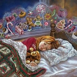 Пазл онлайн: Сладкий сон