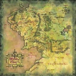 Пазл онлайн: Карта средиземья третьей эпохи