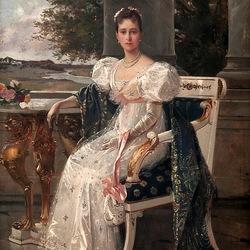 Пазл онлайн: Портрет Великой княгини Елизаветы Федоровны