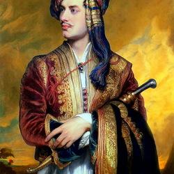 Пазл онлайн: Лорд Байрон в албанском костюме