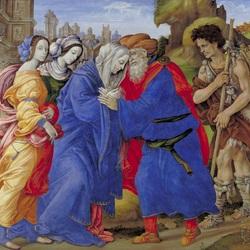 Пазл онлайн: Встреча Иоакима и Анны у Золотых ворот Иерусалима